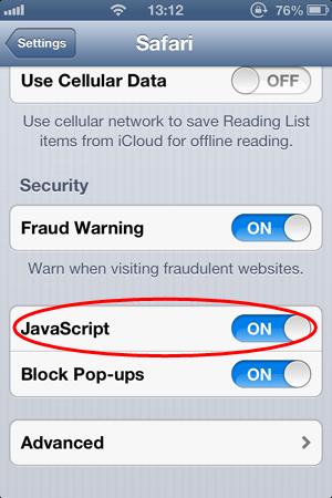 Please enable javascript ippk enable javascript in safari for ios iphone ipod ipad ccuart Choice Image
